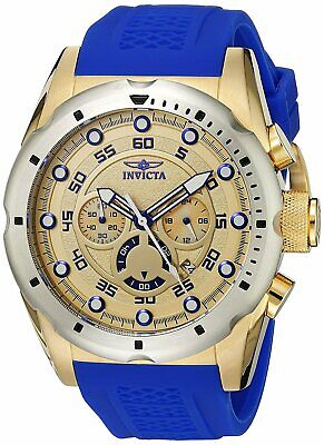Invicta Men's 20307 Speedway Chronograph 50mm Gold-Tone Blue Watch