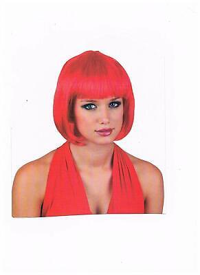 rot kurz Haar Perücke  für Motto Party Fasching Karneval Idee zum Verkleiden