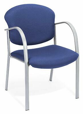 Ocean Blue Fabric Reception Office Guest Side Chair - Waiting Room Office Chair
