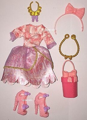 Ever After High Birthday Ball Cedar Wood Doll Outfit Clothes Dress & Shoes Purse