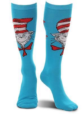 Dr Seuss Cat in the Hat Knee High Socks Adult Teen Costume Novelty Spirit Sock (Spirit Halloween Cat Costume)