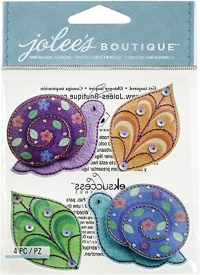 Jolee's Boutique Colorful Felt Snails 3D Sticker Planner Supply DIY Crafts