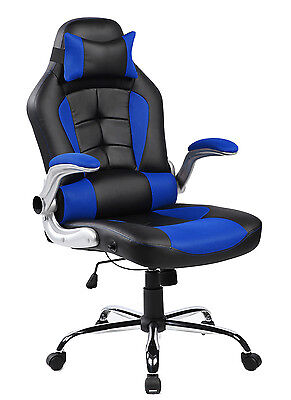 Merax High Back PU Leather Office Chair Executive Racing Gaming Computer Desk