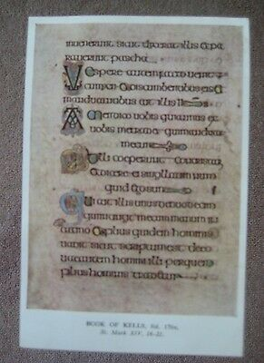 Book of Kells fot 176v St Mark X!V 16-21 Postcard