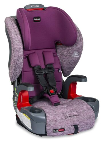 Britax Grow with You ClickTight Harness-2-Booster Car Seat - Mulberry - Open Box
