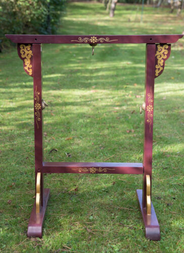 Stand Mount Wood For Gong Diameter 15 11/16in Craft Made Hand To Nepal 26958