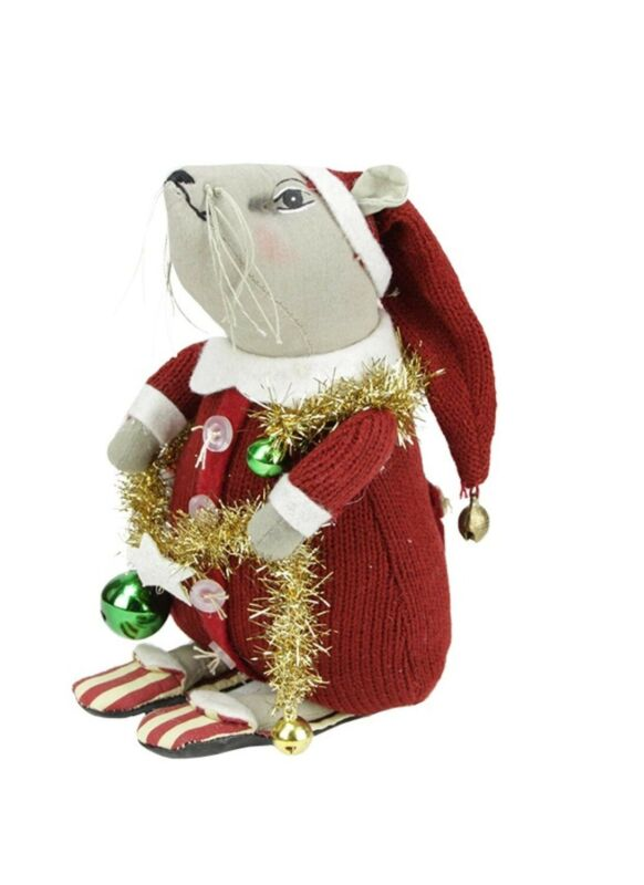 """joe Spencer Gathered Traditions 7.5"""" """"Phineas Christmas Mouse""""..New..w/Tag.."""