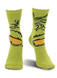 Dr. Seuss The Grinch Socks Crew Sock Costume Crazy Sock Day Accessory