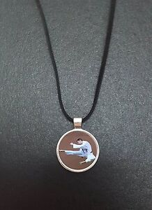 """Karate Pendant On a 18"""" Black Cord Necklace Ideal Birthday Gift N450"""
