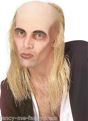 Mens Riff Raff Rocky Horror Show Blonde / Bald Fancy Dress Costume Outfit Wig