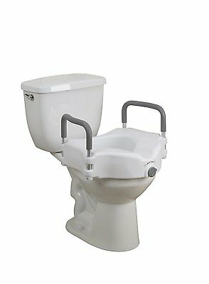 Elevated Raised Toilet Seat with Removable Padded Arms  by Healthline (Removable Padded Arms)