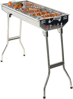 Grandma Shark Stainless Steel Carbon Grill, Portable Foldable Outdoor Barbecue G