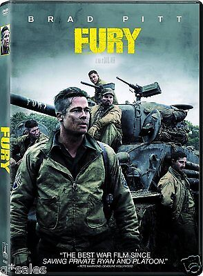 Fury  Brad Pitt    Shia Labeouf  Brand New Dvd   Digital Copy