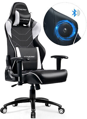 Gaming Chair Speakers (Music Gaming Chair with Bluetooth Speakers Audio Racing Chair)