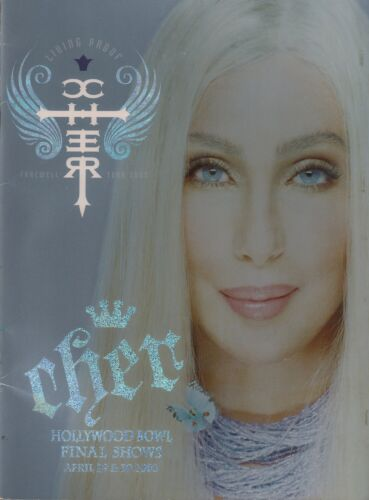 CHER 2005 LIVING PROOF TOUR FINAL SHOWS / HOLLYWOOD BOWL CONCERT PROGRAM BOOK