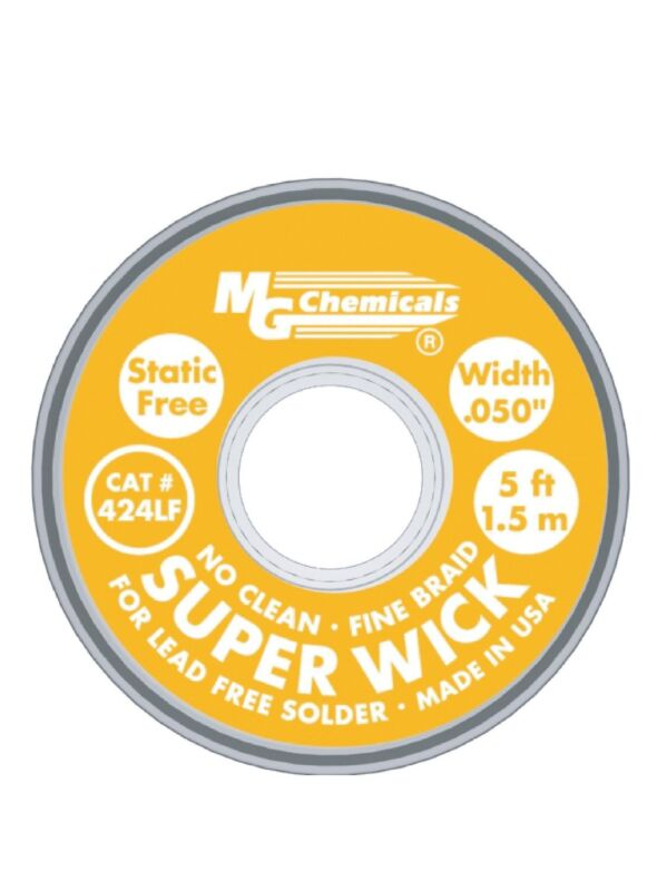 MG Chemicals 424-LF Series #2 High Temperature Super Wick For Lead Free Solder