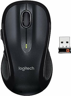 Logitech M510 Wireless Black Computer Mouse – Comfortable Shape with USB