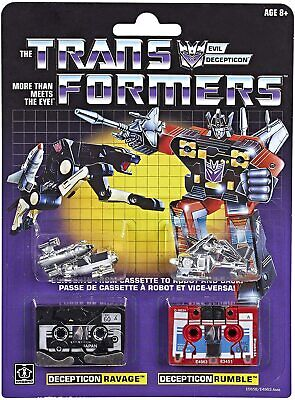 Transformers: Vintage G1 Cassette 2-Pack Decepticons Ravage and Rumble Collectib