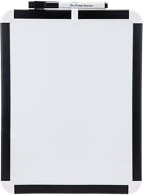 Brand New 8.5 X 11 Magnetic Dry Erase White Board Black