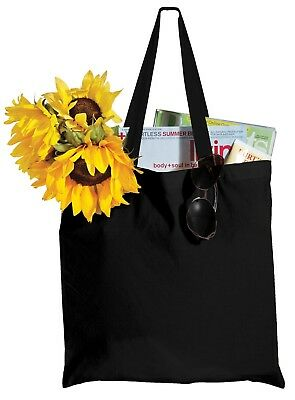 BLANK Cotton Craft TOTE BAG Shopping Durable 100% Cotton Reinforced Handles ()