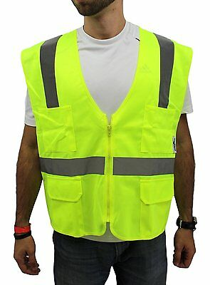 MEDIUM Yellow ANSI CLASS 2  Reflective Tape/  High Visibility Safety Vest