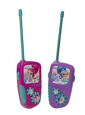 Shimmer & Shine Battery Operated Portable Kids Girls Radio Walkie Talkie Set Toy