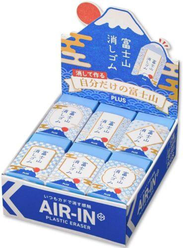 Mt.Fuji Eraser,PLUS AIR-IN Plastic Eraser 12 pieces,Made in Japan,New