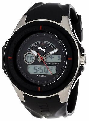 Puma Fuel Dual Time Analog Digital Black Watch PU911021001 New Boxed Original