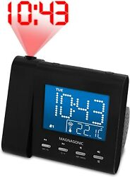 Magnasonic Digital Dual Alarm Clock Radio Temp Display
