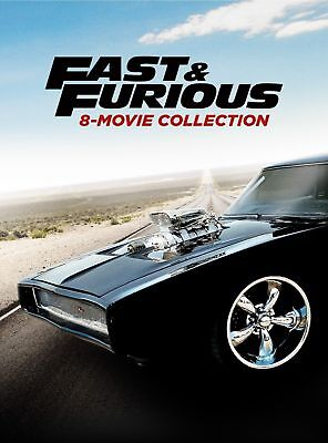 Fast   And Furious 1 8 Complete 8 Movie Collection Dvd Box Set New 9 Discs 1 7