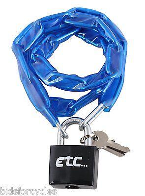ETC BICYCLE BIKE CYCLE LOCK CHAIN WITH PADLOCK 900 mm x 4 mm