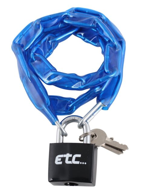 ETC BICYCLE BIKE CYCLE LOCK CHAIN WITH PADLOCK 900 mm x 4 mm