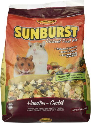Higgins Sunburst Gourmet Food Mix Hamsters & Gerbils net weight 2.5 lbs