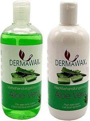 Dermawax Vor- und Nachbehandlung Set mit Aloe Vera für Waxing