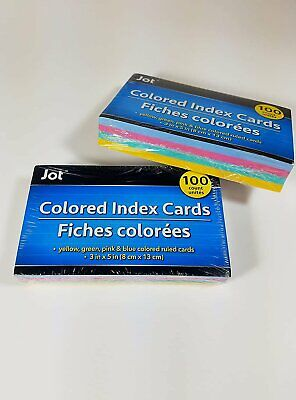 Four Colored - Ruled Index Cards 2 Pack Of 100