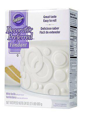Wilton Decorator Preferred Great Taste Easy To Roll Fondant - White 710-2301