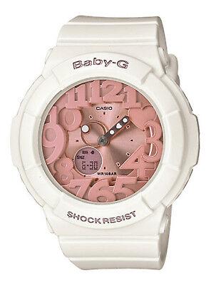 Casio BABY-G SHOCK BGA131-7B2 White & Pink 3D Dial Analog-Digital Ladies Watch (Baby G Pink Dial)
