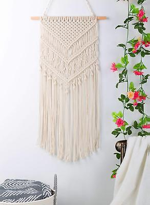 Macrame Wall Hanging Handwoven Bohemian Cotton Rope Boho Tapestry Home Decor UK