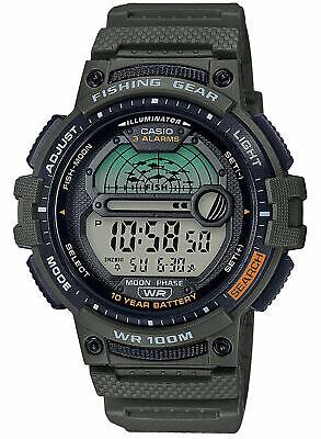 Casio WS-1200H-3AV, 10 Year Battery Watch, 100 Meter WR, Fishing Gear,3 Alarms