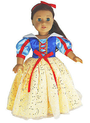 Halloween Doll Dresses (Gorgeous Snow White Costume for 18