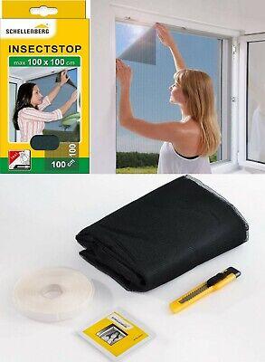 Mosquitera para ventana 100x100 cm,cinta de velcro 1 m,cúter y toallita limpieza