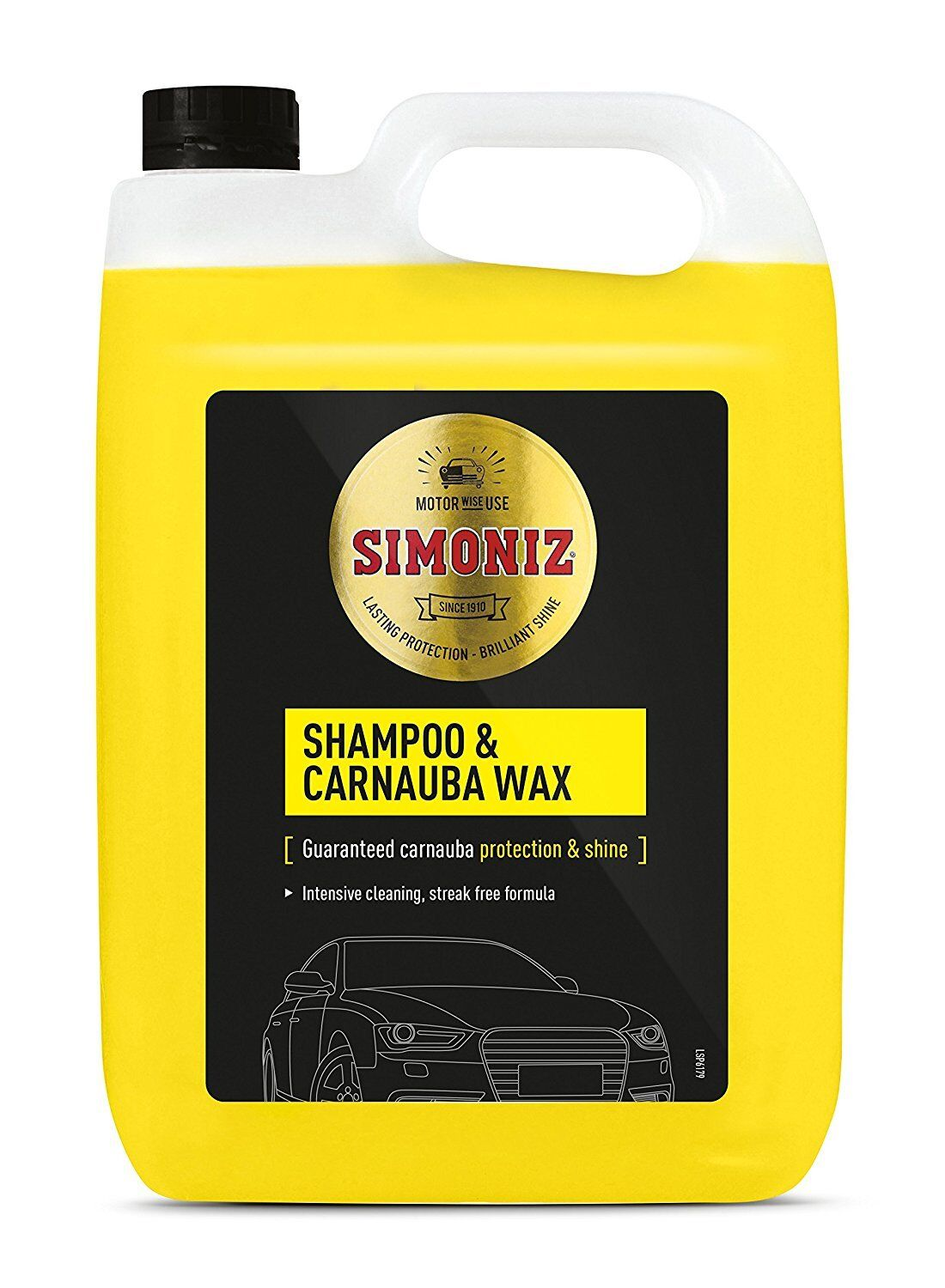 5L LITRE SIMONIZ WASH & WAX CARNAUBA WAX POLISH BODYWORK SHAMPOO CLEANER CAR