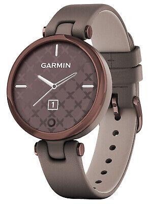 GARMIN Lily Classic Damen-Smartwatch Taupe/Mokka 010-02384-B0