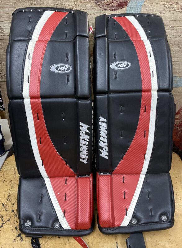 McKENNEY PRO SPEC 870 HOCKEY goalie LEG PADS size 33+1