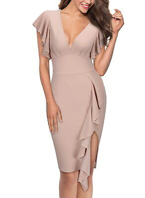 Women's Midi Ruffled Bodycon Dress with Bell Sleeve for Any Occasion - Belle Dress For Women