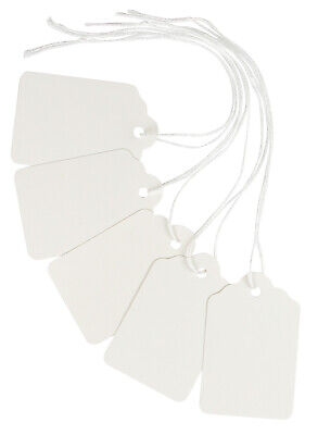 White Merchandise Tags With String Attached 2 14 X1 716 Pack Of 500