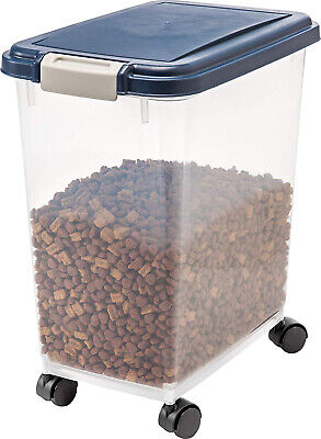 25Lb Large Dog Food Storage Container Plastic Pet Cat With L