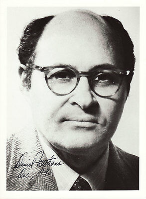 Daniel Nathans Originalautogramm auf Großfoto Nobel Medizin 1978 autograph