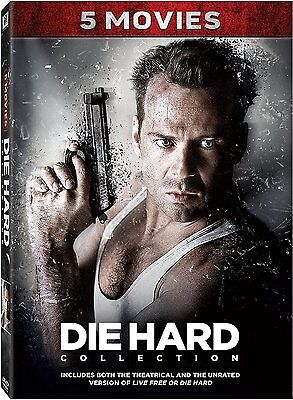 Die Hard  Complete Bruce Willis Movie Series 1 2 3 4 5 Collection Boxed Dvd Set