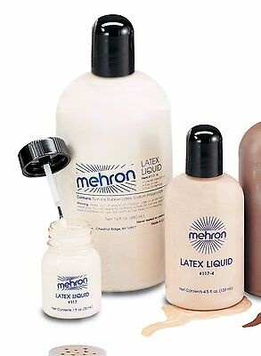 Special Effects Makeup (Mehron Liquid Latex Clear Light Dark Flesh Special Effects Professional)